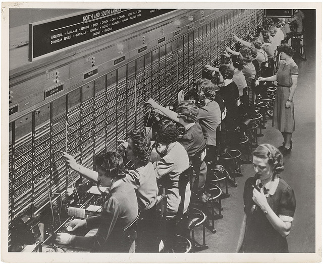 Photograph of Women Working at a Bell System Telephone Switchboard. 1940-1945.jpg