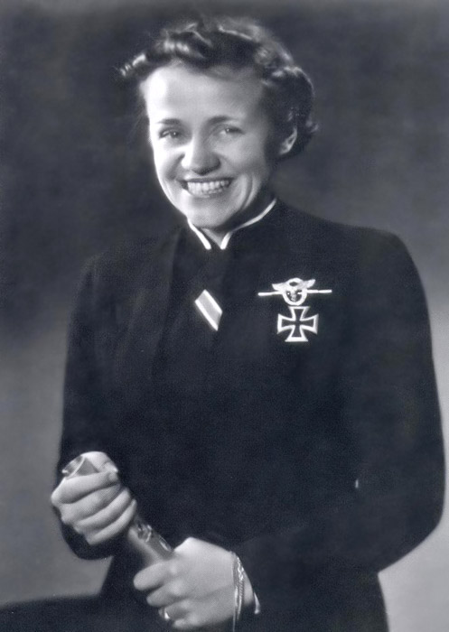 A formal portrait showing Hanna Reitsch wearing the Iron Cross 1st class and ribbon of the 2nd class.jpg