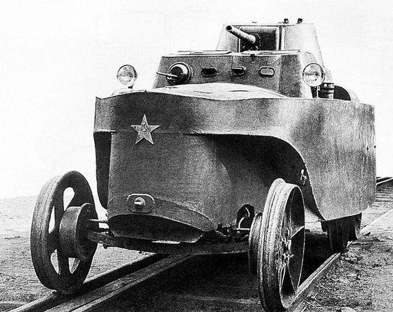 Soviet experimental amphibious armored draisine BAD 2 one prototype designed by P N Syachentov in 1932.jpg