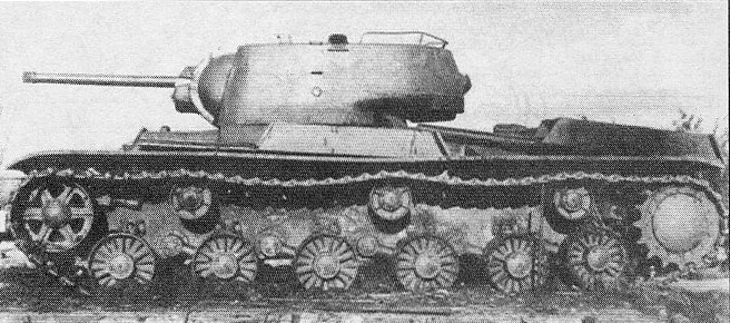 1942 Russian Tank  KV-1K with 132 rockets.jpg