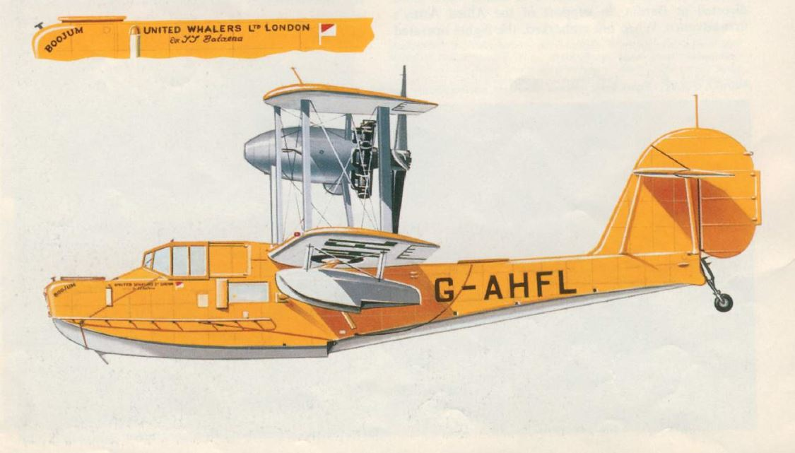 1946 British Seaplane Supermarine Walrus, 5 units boughts by United Whalers Ltd for Balenea ship.JPG