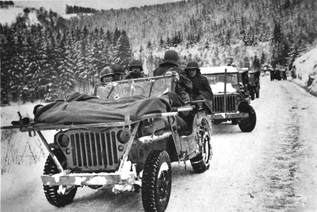 US - Jeep - Sanitary Evacuation - Battle of the Bulge - 84th Inf Div - Battle of Germany.JPG