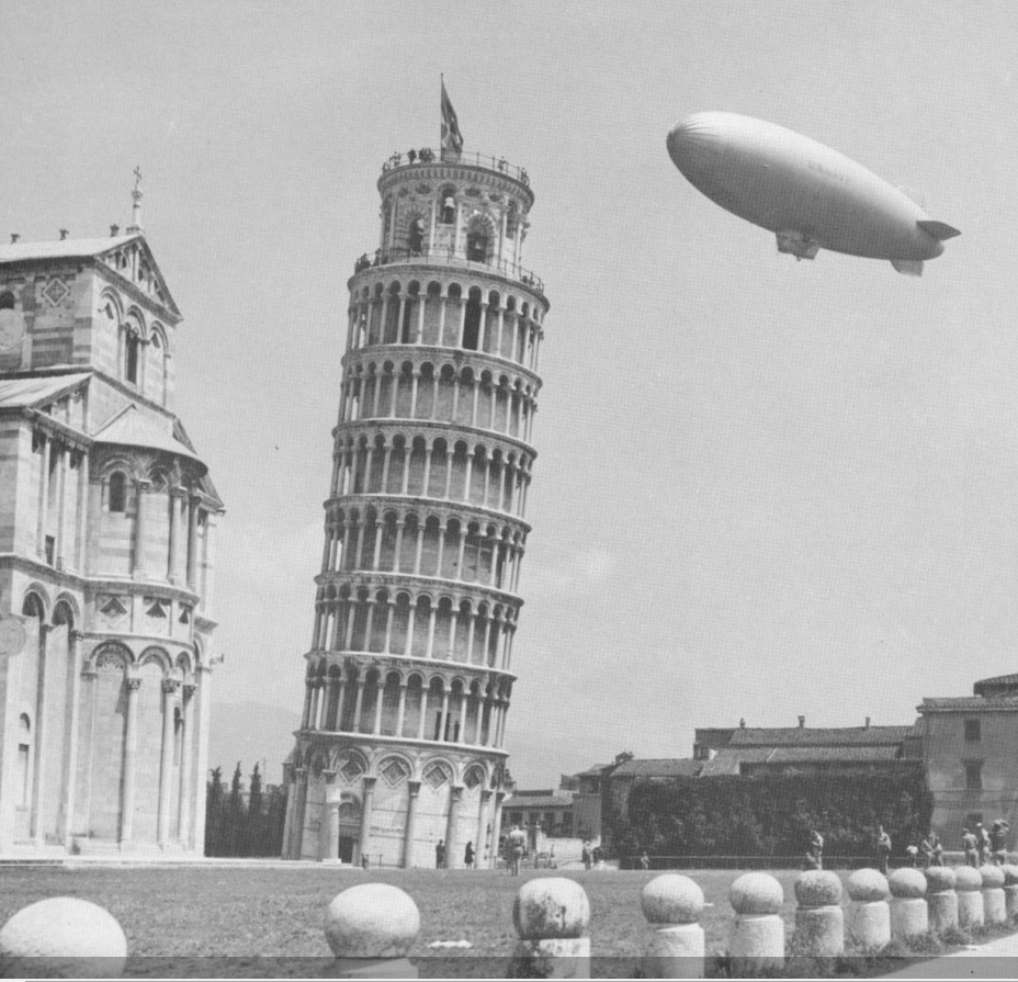 US Navy airship K101of Airship Patrol Squadron ZP 14 at Pisa Italy May 1945.png