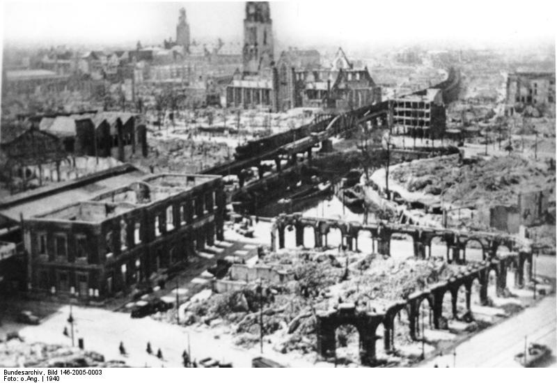 Bombing damage to the medieval city of Rotterdam.jpg