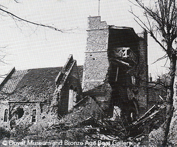 Dover Old St.James' Church after wartime damage.png