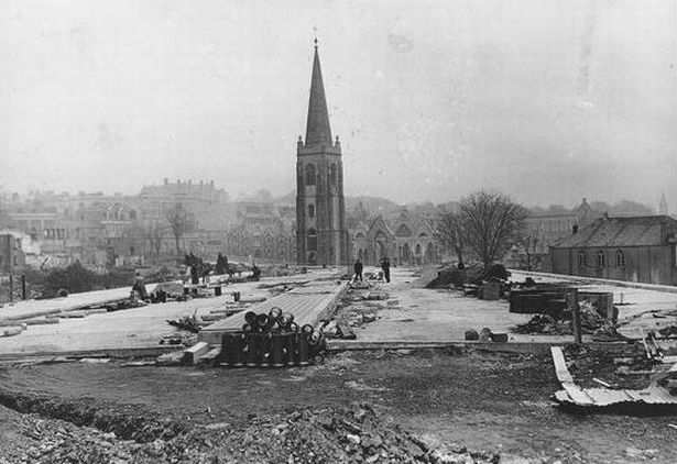 Plymouth A bombed Charles Church, looking towards Ebrington Street .jpg
