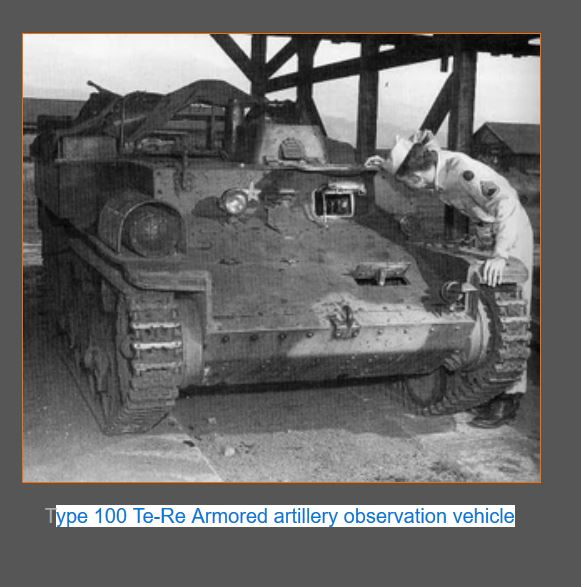 Japanese Type 100 TE-RE Armored artillery observation vehicle.JPG